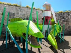15 Amazing, Unique And Creative Playgrounds // An eel and a lighthouse