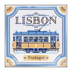 Beautiful Portuguese azulejos tile work piece souvenir styled vector design element or background on Lisbon Portugal. Ideal for tourism themed web publications and graphic design - stock vector Portuguese Culture, Portuguese Tiles, Visit Portugal, Portugal Travel, Tile Logo, Lisbon Tram, Vector Design, Graphic Design, Travel Logo