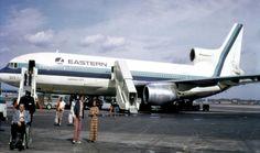 Vintage Eastern Airlines Lockheed L-1011 TriJet Whisperliner Airliner.