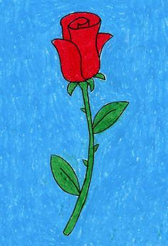 Draw a Rose | Art Projects for Kids. PDF Tutorial available. #artprojectsforkids #howtodraw #valentine