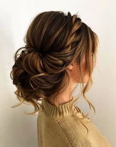 100 Gorgeous Wedding Updo Hairstyles That Will Wow Your Big Day - Selecting your. - - 100 Gorgeous Wedding Updo Hairstyles That Will Wow Your Big Day - Selecting your bridal hair style is an important part of your wedding planning,Gorge. Updos For Medium Length Hair, Medium Hair Styles, Short Hair Styles, Updo For Long Hair, Hair Updos For Prom, Updo Styles, Bridal Hair Updo Loose, Hair Styles For Prom, Loose Updo