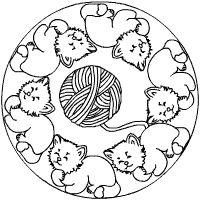 Katzen Mandala