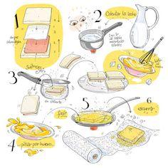A quién no le gusta ver toda una receta de un simple vistazo? Pues Alya Mark, de Cartoon Cooking nos lo ha puesto en bandeja, y así de divertido.