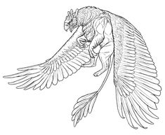 How to Draw a Griffin Animal Sketches, Animal Drawings, Drawing Sketches, One Line Tattoo, Line Art Tattoos, Fantasy Creatures, Mythical Creatures, Griffon Tattoo, Greif Tattoo