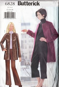 Women's jacket and pants sewing patterns and instructions for misses / misses'…