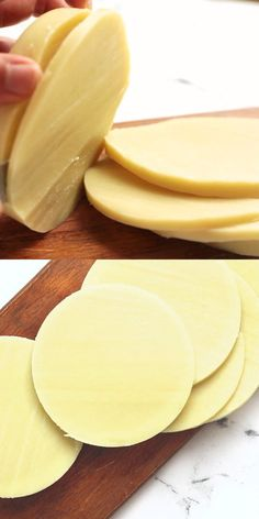 How to make homemade vegan cheese from a can of coconut milk.  This dairy-free provolone is rich and creamy and is perfect for sandwiches or to serve on crackers. #vegan #thehiddenveggies Vegan Cheese Recipes, Tasty Vegetarian Recipes, Vegan Dinner Recipes, Vegan Foods, Vegan Snacks, Vegan Dishes, Dairy Free Recipes, Whole Food Recipes, Cooking Recipes