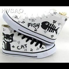 Buy 'HVBAO – Print High-Top Canvas Sneakers' with Free International Shipping at YesStyle.com. Browse and shop for thousands of Asian fashion items from China and more!