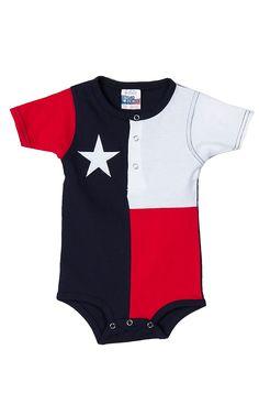 Texas Flag Baby Onesie RPTXONSIE | Cavender's Boot City  O YES!!