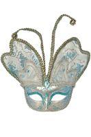 Venetian Butterfly Mask (Blue)