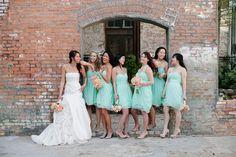 Aquamint Cotton Mill Wedding