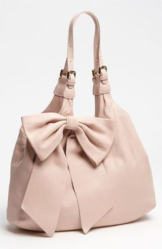 Omg love it!! RED Valentino 'Bow' Leather Hobo available at #Nordstrom