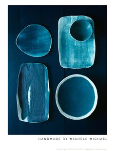Blue ceramic tableware by Michele Micheal | Elephantceramics | #mijnservies
