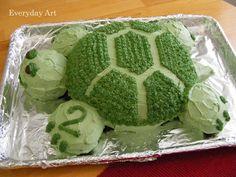 Everyday Art: Turtle Birthday Cake