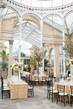Elegant Champagne and Food Focussed Syon Park Wedding