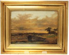 ANTIQUE 19th CENTURY DANISH OIL ON CANVAS PAINTING-ORIGINAL HANDMADE FRAME-SIGNS OF AGEING AND WEAR-FREE POSTAGE WORLDWIDE