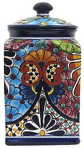 The wonderfully intricate floral patterns of these classically styled Talavera kitchen canisters will complement any kitchen dcor!  The ceramic of these Talavera canisters is hand-painted in Dolores Hidalgo, Mexico, and embodies all the charm of Mexican Talavera.