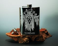 World of Warcraft  Horde  Hip Flask  8oz  Stainless by NexusGlass, $32.50