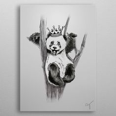 prince panda by Virag Hortobagyi Wall Art Prints, Framed Prints, Canvas Prints, Panda, Duvet Covers, Moose Art, Canvas Art, Greeting Cards, Wall Decor
