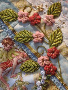 Flower fairy crazy quilt