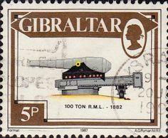 Gibraltar 1987 Guns SG S74 Fine Mint Scott 513 Other Gibraltar Stamps HERE