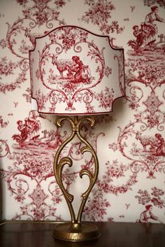 cute red toile lamp i adore everything toile French Country Decorating, Decor, French Toile, French Country Cottage, Toile Fabric, Red And White, Transferware, Chinoiserie, French Decor