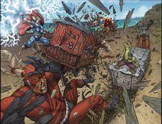 AVENGERS: EARTH'S MIGHTIEST HEROES #1 pgs 18-19