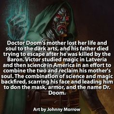 Slight correction his father died saving Victor and freezing to death trying to keep his son warm