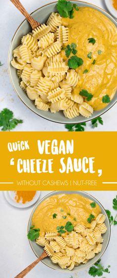 "Easy Vegan Lowfat ""Cheeze"" Sauce {super creamy without cashews!}"