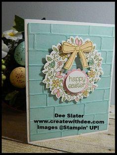 Circle of Spring Photopolymer Stamp Set, Wonderful Wreath Framelit Dies, Brick Wall Textured Embossing Folder, Stampin' UP!