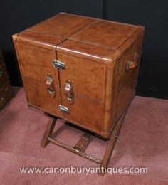 Photo of English Leather Campaign Drinks Cabinet Wine Chest Luggage Trunk