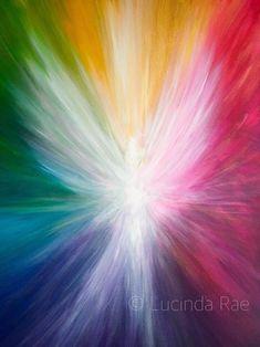 Image Pastel, Pastel Art, Acrylic Artwork, Acrylic Painting Canvas, Light Wall Art, Angel Artwork, Spiritual Paintings, Angel Drawing, Rainbow Painting
