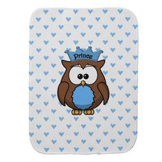 prince owl baby burp cloths