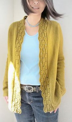 Description of the designer Connie Peng. Ladies Cardigan Knitting Patterns, Knit Cardigan Pattern, Knitting Patterns Free, Knit Patterns, Knitting Blogs, Lace Knitting, Knitting Designs, Knit Crochet, Jumper Outfit