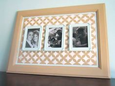 Can you guess what this stenciled picture frame is made from?  If you're thinking a cabinet door and our Nagoya stencil then you nailed it! Let's give Delightfully Noted a 'like' for their creativity!  Get your stencil here: http://www.cuttingedgestencils.com/nagoya-furniture-stencil.html  #cuttingedgestencils #stenciling #stencils #craftstencils — with Jane Roark.