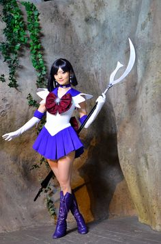 Saturn cosplay from Sailor Moon