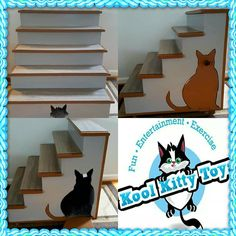 "@KoolKittyToys NEW 30"" x 26"" x 27"" Custom Kool Kitty stairs with a cute and safe sleeping area or storage area just delivered to a few Kool Kitties!  Please call or email us if you would like a handmade custom Kool Kitty Toys product made for your furbaby!  Every product is made in the USA by Disabled Veterans! 315-209-5444 or koolkittytoys@gmail.com  www.koolkittytoys.com #dog #cat #DC #MD #VA #LA #cats #kitties #kittens #pets #animal #catsofinstagram #catsoftwitter #kitty #koolkittytoys"