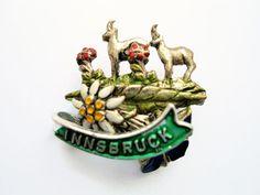 Innsbruck Austria Brooch Pin Enamelled Lapel Pin by TansyBel