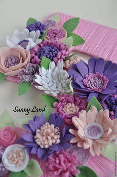 Делаем цветы из фетра для декоративной цифры - Ярмарка Мастеров - ручная работа, handmade