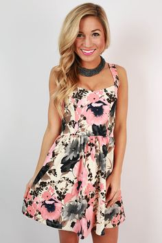 Bed & Breakfast Floral Dress in Ivory