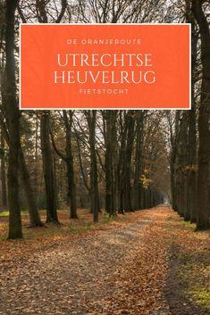 De oranjeroute is een prachtige fietstocht door de Utrechtse Heuvelrug. #fietsen #Nederland #fietstocht Holland, Utrecht, Dutch, Hiking, Country Roads, Travel, Ideas, The Nederlands, Walks