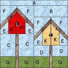 myQuiltGenie Blog: Garden Quilt Along - Birdhouses