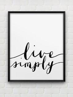 printable live simply poster // motivational von spellandtell