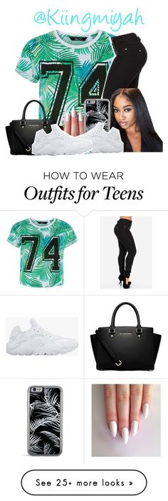 """Untitled #496"" by kiingmiyah on Polyvore featuring MICHAEL Michael Kors and NIKE"