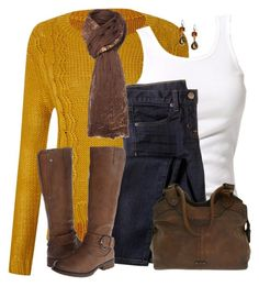 """""""Casual Yellow Sweater"""" by daiscat ❤ liked on Polyvore featuring Therapy, Soaked in Luxury, J.Crew, Replay, Patrizia, Frye and Banana Republic"""
