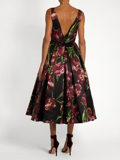 Tulip-print sleeveless duchess silk-satin gown | Dolce & Gabbana | MATCHESFASHION.COM
