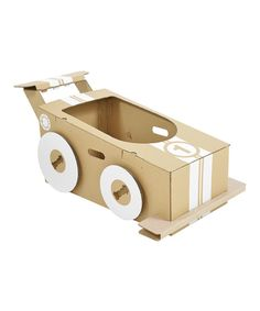 Cardboard Little Racer contemporary-kids-toys Mario Kart, Cardboard Car, Cardboard Crafts, Cardboard Airplane, Carton Box, Toys For Boys, Kids Toys, Cool Gifts For Kids, Craft Ideas