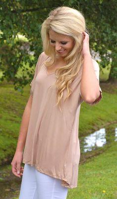 Summer Staple Modal V-Neck- Tan #basics #new