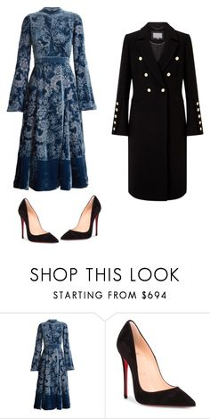 """""""Nice look"""" by izy-vilela ❤ liked on Polyvore featuring Erdem and Christian Louboutin"""