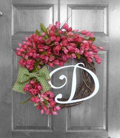 Spring Wreath  Summer Wreath  Tulip Wreath  by RefinedWreath