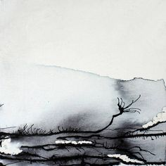 'Finding Silence' / ink and oil -by Beth Nicholas